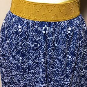 LuLaRoe Lola Blue lace overlay maxi skirt small